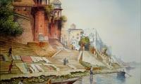 banaras ghat 1 22x30 water colour on paper.jpg