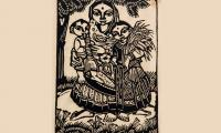Chittaprosad  Mother  Child Wood -Cut 6.5x9.5 inches.jpg
