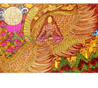 Seema-Kohli-Saraswati-24x36-inches-mix-media-on-canvas-with-24ct-gold--silver-leaf.jpg