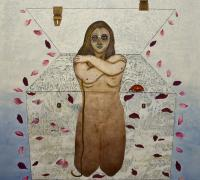 Vasundhara Tewari Broota AND SHE  WILL RISE         Oil on Canvas  48x48 inches.jpg